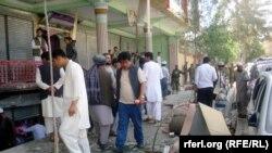 Фарьяб уәлаятында болған жарылыстардың бірінен кейінгі көрініс, Ауғанстан.