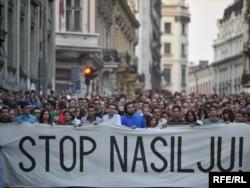 Protest nakon ubistva Brisa Tatona, Beograd 02.10.2009.