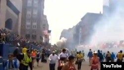 Бостон марафони пайтида содир этилган портлаш.