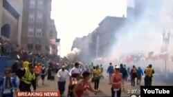 Марафонда болған жарылыстан кейінгі көрініс. Бостон, АҚШ, 15 сәуір 2013 жыл.