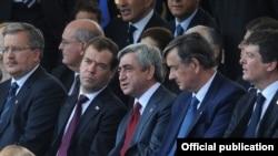 Իտալիա -- Հայաստանի եւ Ռուսաստանի նախագահները մասնակցում են տոնական միջոցառումներին, Հռոմ, 2-ը հունիսի, 2011թ.