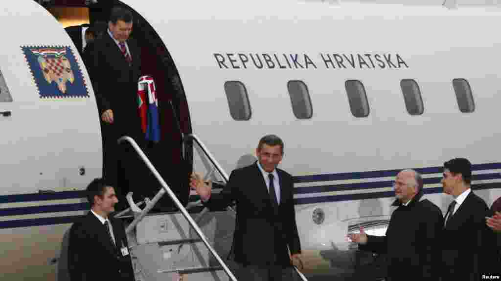 Generali po povratku u Zagreb, Reuters foto