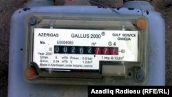 A gas meter in the Azerbaijani capital, Baku