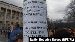 Bosnje e Hercegovinë, protesta civile në Sarajevë, 23 shkurt, 2014