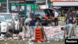 Расследование на месте взрыва в Челси