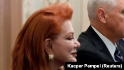 "U.S. Ambassador to Poland Georgette Mosbacher said that Germany and the Soviet Union ""colluded to start WWII."" (file photo)"
