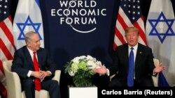 Donald Trump și Benjamin Netanyahu, la Davos