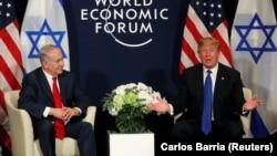 Tramp i Netanjahu u Davosu, 25. januar