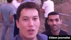 Чингиз Раимкул (на переднем плане) – один из задержанных милицией активистов.