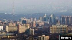 Алматы қаласының көрінісі.
