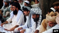 FILE: A jirga or tribal assembly of North Waziristan's tribal leaders.