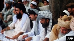 Displaced North Waziristan tribal leaders (file photo).
