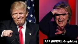 Prezidentliyə əsas namizədlər Donald Trump (solda) and Hillary Clinton