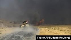 درگیری ارتش عراق با شبهنظامیان داعش در اطراف شهر العیادیه.