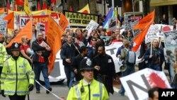 Традиционный путь лондонской первомайской демонстрации: от Кларкенуэлла до Трафальгарской площади