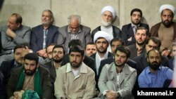 Some of Iranian famous eulogists during a meeting with Supreme Leader Ali Khamenei, undated.