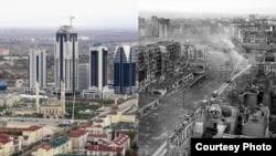 Grozni, fotografija snimljena 2012. i 1995. godine
