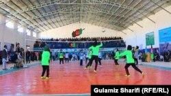 مسابقه والیبال دختران در ولایت دایکندی