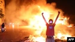 Pamje nga protestat në Liban.