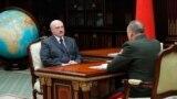 Belarus —Alexander Lukashenko meets Minister of Emergency Situations Uładzimier Vaščanka (Vladimir Vashchenko), 9apr2020