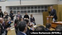 Sergei Lavrov, ţinând o prelegere la ULIM