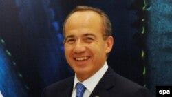 Мексика президенті Фелипе Кальдерон. 9 тамыз 2009 жыл.