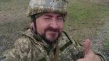 В'ячеслав Зайцев, історик, учасник бойових дій, під час військових зборів. Листопад 2019 року