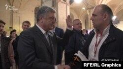 Уже ввечері дня виборів «Схеми» знову пішли з питаннями до Порошенка