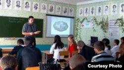 Урок в российской школе, архивное фото