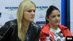 Прес-конференција на женскиот ракометен клуб Вардар.