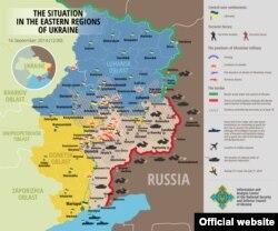 Situația la zi din zona de confruntări din Donbas