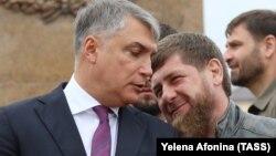Полпред президента в СКФО Александр Матовников и глава Чечни Рамзан Кадыров