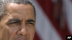 АҚШ президенті Барак Обама. Вашингтон. 2 тамыз 2011 жыл.