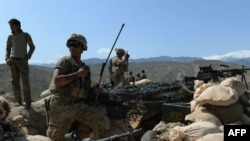 FILE: U.S. soldiers during an operation in the eastern province of Nangarhar in April.