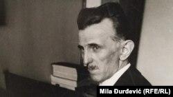 Портрет на научникот Никола Тесла во музејот на Тесла во Белград