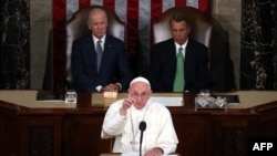 Pope Francis addresses a joint meeting of the U.S. Congress.