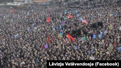 Բողոքի ցույցը Կոսովոյի մայրաքաղաք Պրիշտինայում, 9-ը հունվարի, 2016թ․