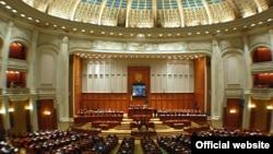 Sala de şedinţe a Senatului României