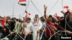 Пратэст прыхільнікаў Муктады ас-Садра ў Багдадзе 26 красавіка.