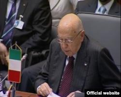 Italijanski predsednik Giorgio Napolitano, 19. jun 2009.
