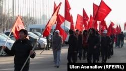 """""""Ата Мекен"""" партиясынын акциясы. Бишкек, 13-февраль, 2013."""