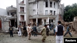 Будівля консульства Індії після нападу смертників
