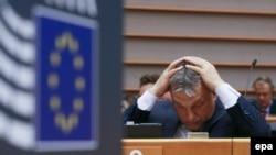 Premierul Viktor Orbanla sesiunea de la Bruxelles a Parlamentului European