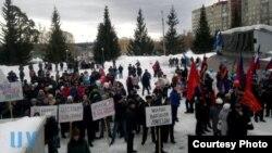 Златоуст заводы хезмәткәрләре 2014 елның мартында пикетка чыкты