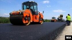 Градежни активности на автопатот Миладиновци - Штип на 22 мај 2017
