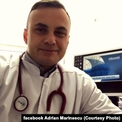 Adrian Marinescu, Adrian Marinescu, medic primar la Institutul de Boli Infecțioase Matei Balş.
