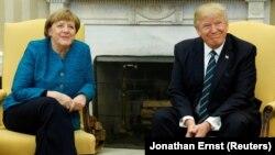 Դոնալդ Թրամփի և Անգելա Մերկելի հանդիպումը Սպիտակ տանը, Վաշինգտոն, 17-ը մարտի, 2017թ․