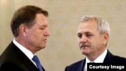 Președintele Klaus Iohannis și liderul social democrat Liviu Dragnea