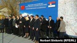 Zajednička fotografija delegacija Srbije i Mađarske, Novi Sad, 23. decembar 2015.