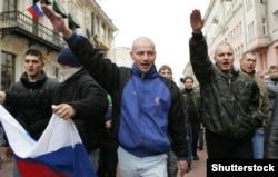 """""""Русский марш"""" в Москве, 2008 год."""